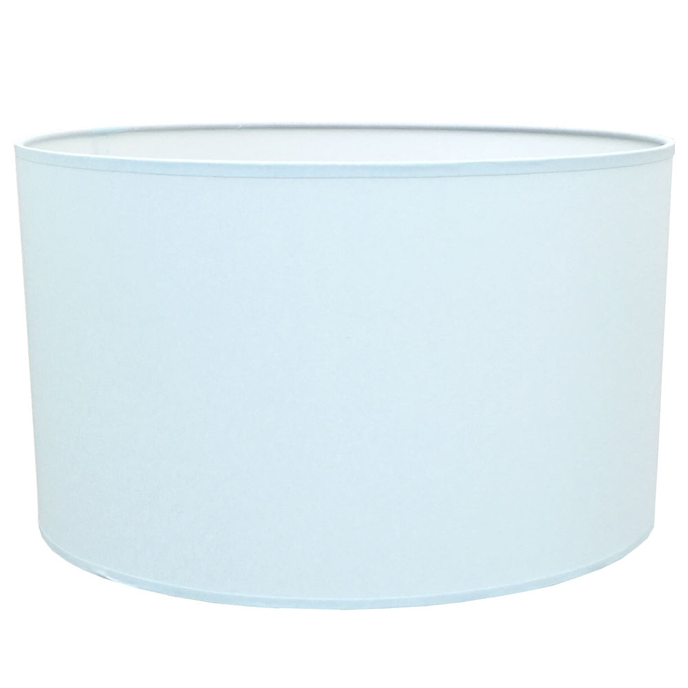Drum Table Lampshade Pale Blue